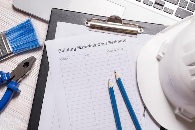 Estimation du coût des matériaux de construction