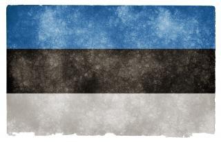 Estonie grunge flag culturelle