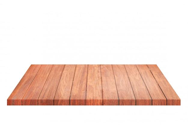 Étagère en bois ancien brun vide. pour le montage de votre produit