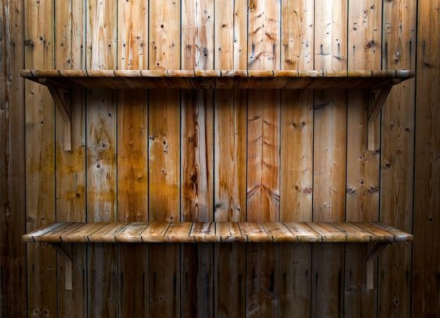 Étagère en bois vide