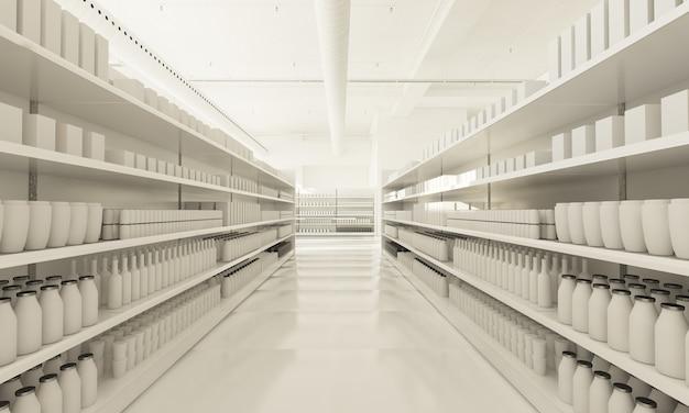 Étagères de supermarché