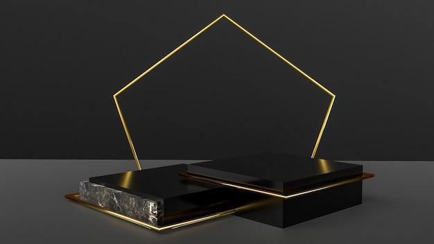 Étape 3d abstraite pour la présentation du produit
