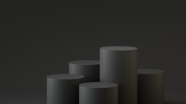Étapes vides podium de cylindre sur fond vide. rendu 3d.