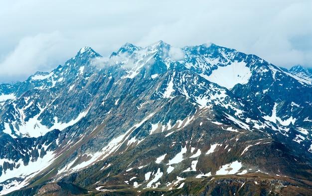 Été, juin) montagne des alpes, vue depuis la haute route alpine du grossglockner