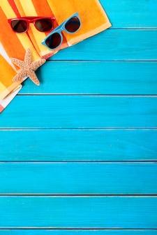 Été tropical fond de plage