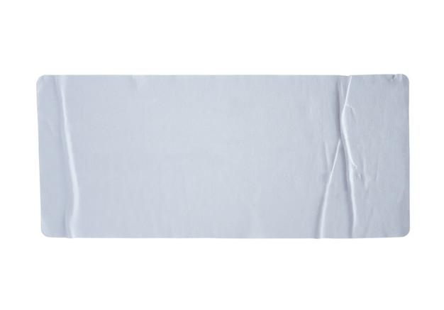 Étiquette d'autocollants avec un tracé de détourage isolé sur blanc