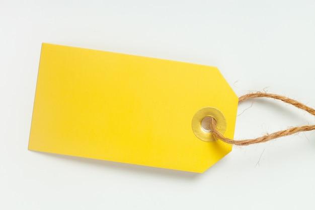 Étiquette isolé sur blanc