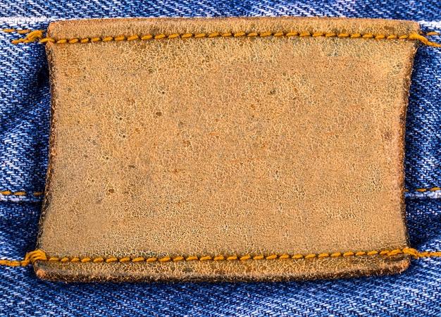 Étiquette de jeans vierge