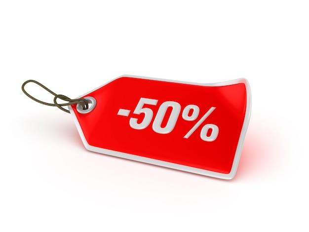 Étiquette de magasinage - 50%
