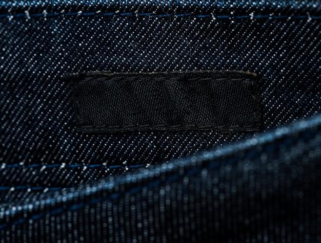 Étiquette de marque de tissu vierge