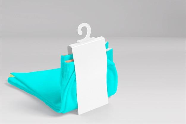Étiquette en papier de chaussettes de rendu 3d