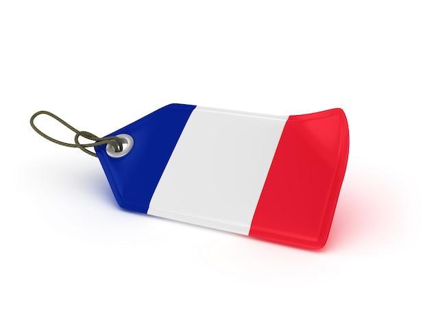 Étiquette de prix d'achat drapeau français