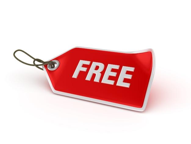 Étiquette de prix d'achat gratuit