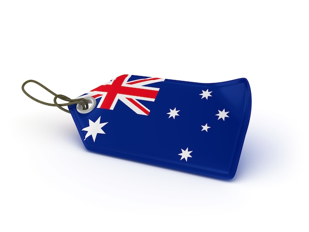 Étiquette de prix du shopping drapeau australien