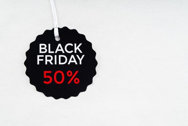 Étiquette de réduction du vendredi noir