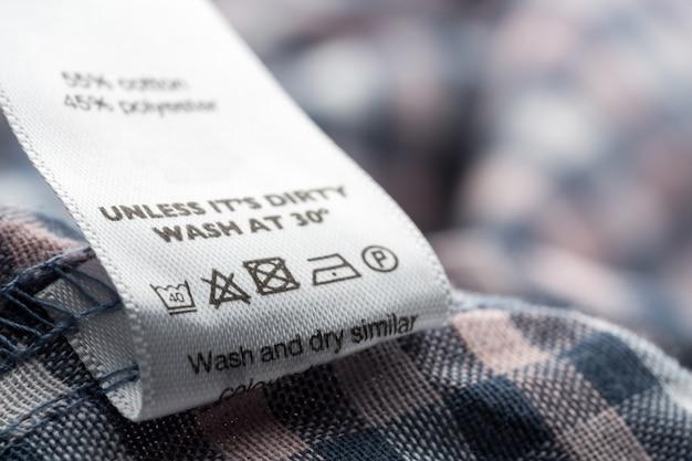 Étiquette en tissu