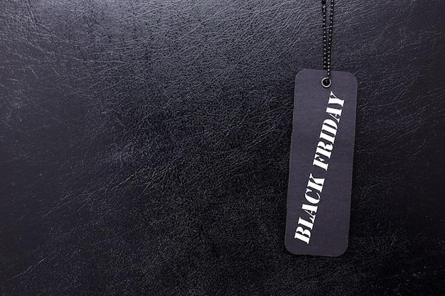 Étiquette avec vendredi noir et espace copie