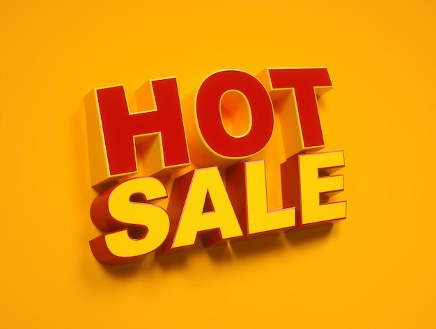 Étiquette de vente chaude