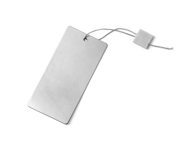 Étiquette vierge attachée avec de la ficelle