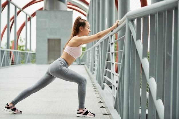 Étirement des jambes