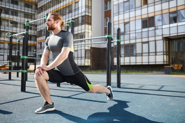Étirement statique des jambes