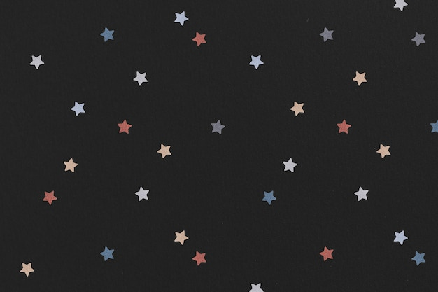 Étoile Colorée Scintillante à Motifs Photo gratuit