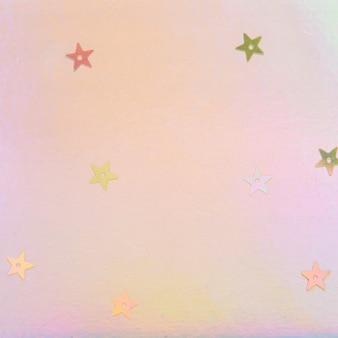 Étoile holographique pastel pailleté
