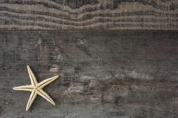Étoile de mer sur un bois rustique