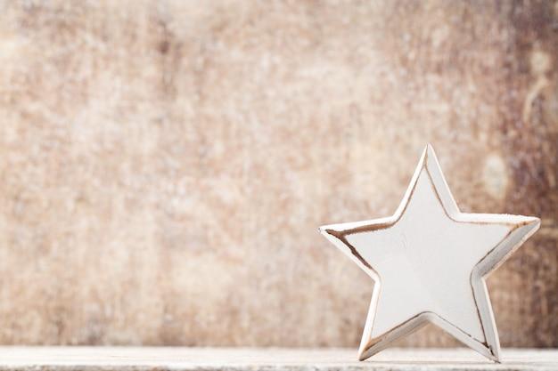 Étoile de noël avec bonnet de noel