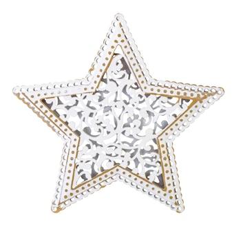 Étoile de noël sur un fond blanc isolé