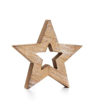 Étoile de noël isolée sur un blanc b