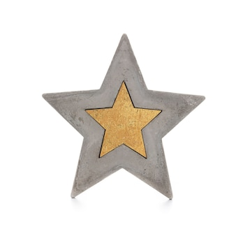 Étoile de noël isolée sur fond blanc.