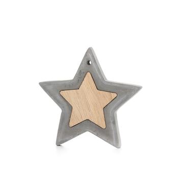 Étoile de noël isolée sur fond blanc