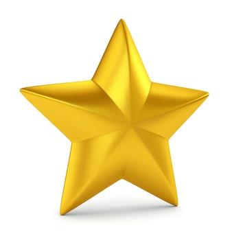 Étoile d'or sur blanc