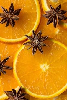 Etoile d'orange et d'anis, moitié d'orange, lobule d'orange