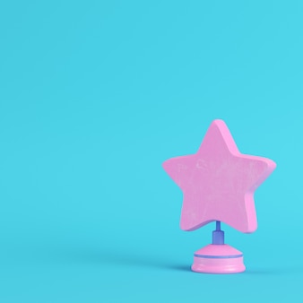 Étoile avec support sur fond bleu clair