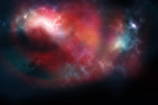 Des étoiles et des galaxies dans l'espace extra-atmosphérique montrant la beauté de l'exploration spatiale
