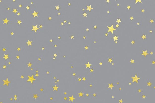 Des étoiles illuminées sur la surface ultimate grey