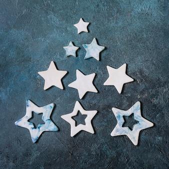 Étoiles de noël en céramique