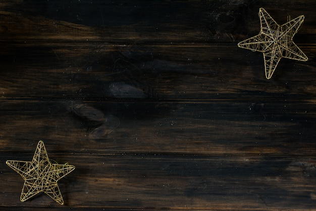étoiles de noël nouvel an intérieur. espace de copie de fond de noël.