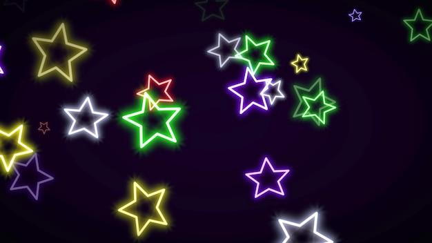 Étoiles rétro colorées, abstrait. illustration 3d géométrique dynamique élégante et luxueuse des années 80 et 90 de style memphis