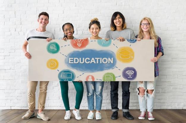 Étude de l'éducation concept de connaissances d'apprentissage
