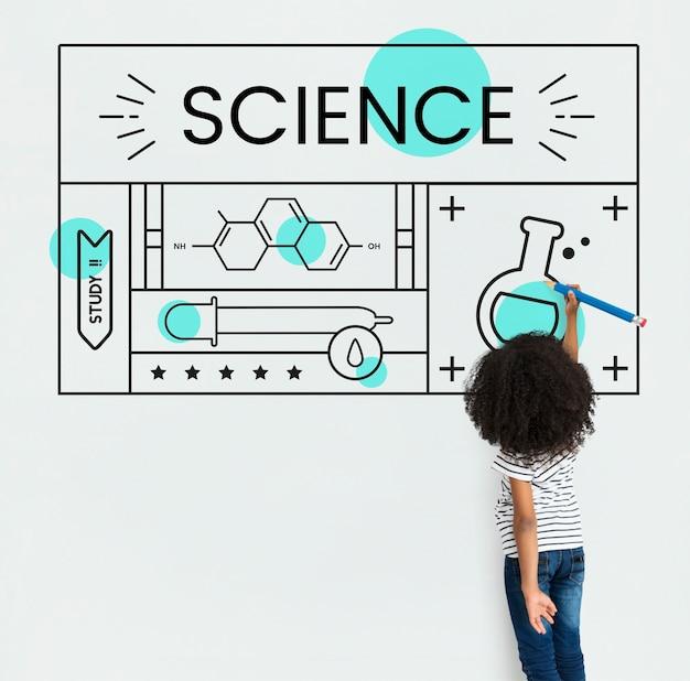 Étude d'expérience de sujet de concept scientifique