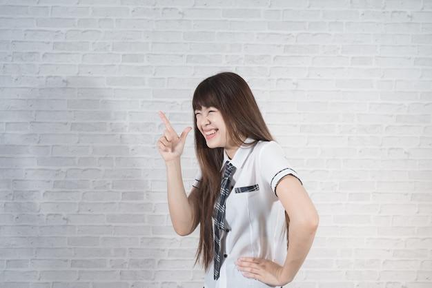 Étudiant asiatique fille à japon uniforme scolaire sexy