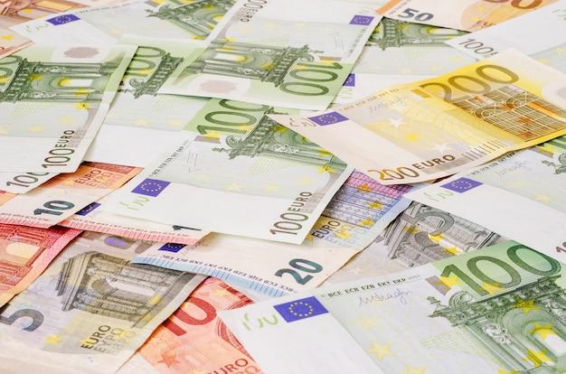 Euro argent de différentes dénominations