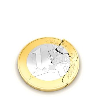 Euro cassé 3d