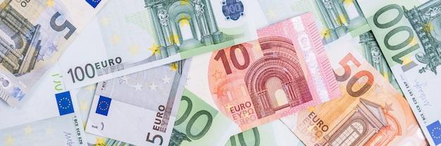 Euro money. fond de trésorerie euro. billets d'argent euro.