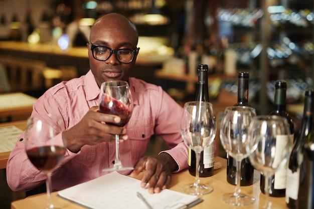 Evaluation du vin