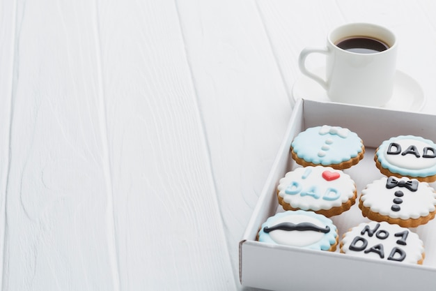 Événement de la fête des pères avec des cookies