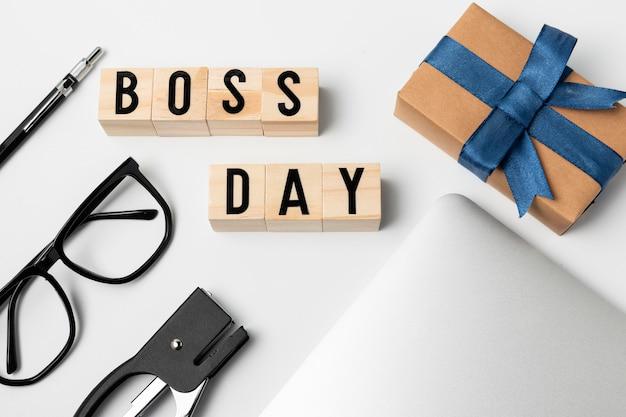 Événement de la journée du patron vue de dessus